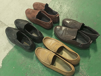 used-leather-shoes